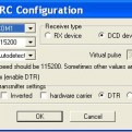 Winlirc device configuration settings