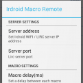 Irdroid Macro Remote Settings